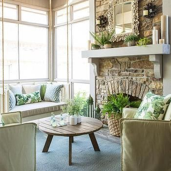 Swinging Daybed, Transitional, porch, At Home in Arkansas