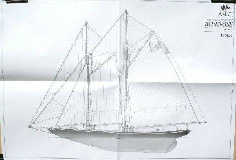Ship Model Plans Amati Bluenose 1