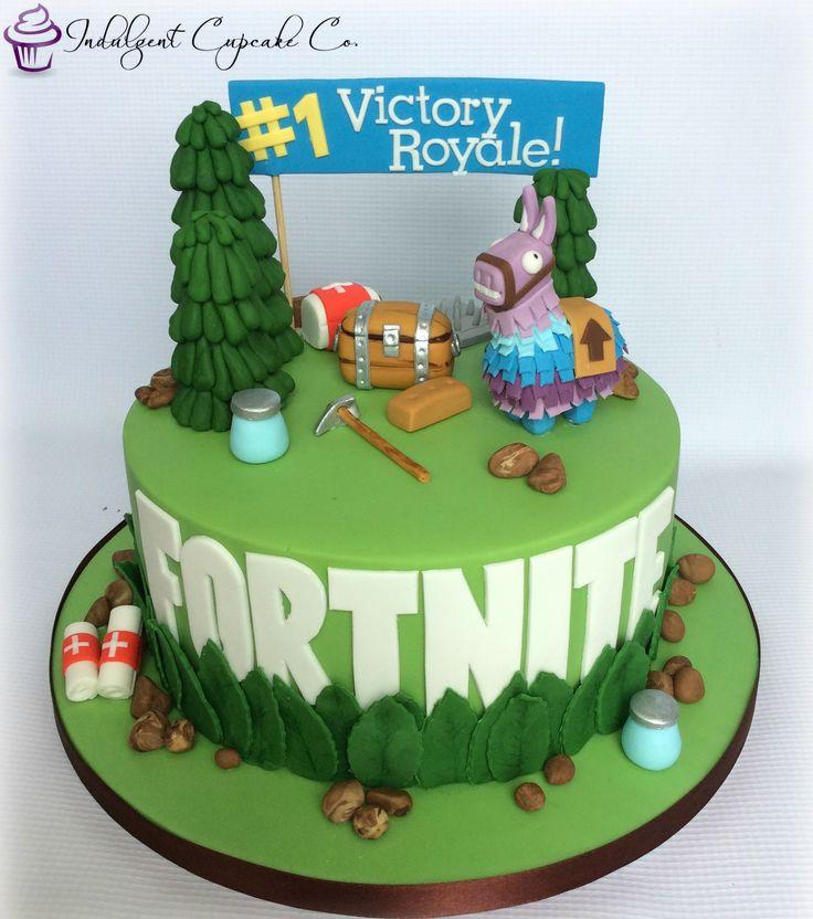 Brithday Map Fortnite Cake