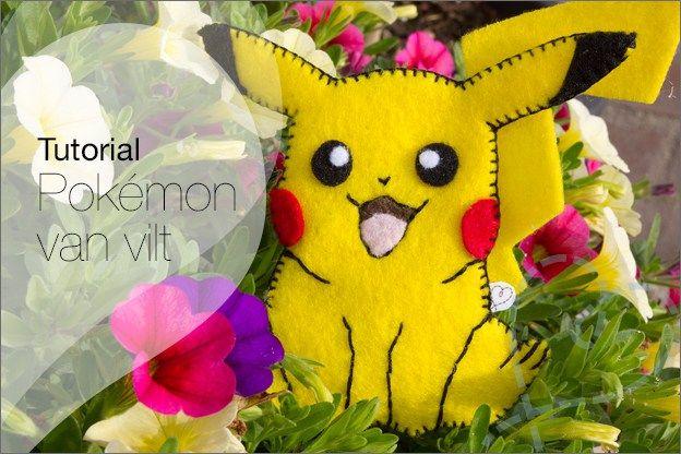 Tutorial #31: Pokémon knutselen van vilt ★ Pokemon maken met behulp van vilt, ik leg het stap voor stap gratis uit :-).