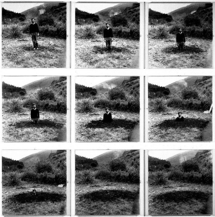 Keith Arnatt 'Self-Burial (Television Interference Project)'