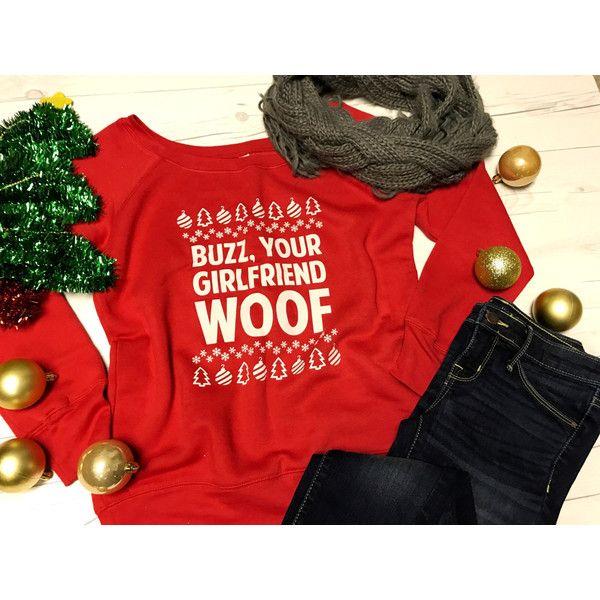 Off Shoulder Buzz Your Girlfriend Woof Sweatshirt Fleece Ugly... ($36) ❤ liked on Polyvore featuring tops, hoodies, sweatshirts, black, women's clothing, fleece sweatshirt, off shoulder tops, off-the-shoulder sweatshirt, off the shoulder sweatshirt and petite sweatshirts