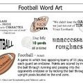 Free Football Word Art Download for Scrapbooking