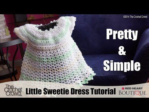 ▶ Crochet Little Sweetie Dress Tutorial - YouTube