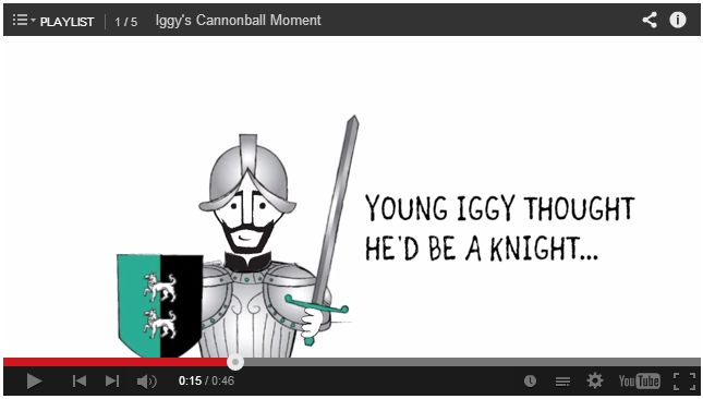 In 1521, a cannonball spun Iggy's life in a new direction. What's your life-changing cannonball moment? Share on FB, Twitter, Pinterest, Instagram or Vine using the hashtag #FindIggy!