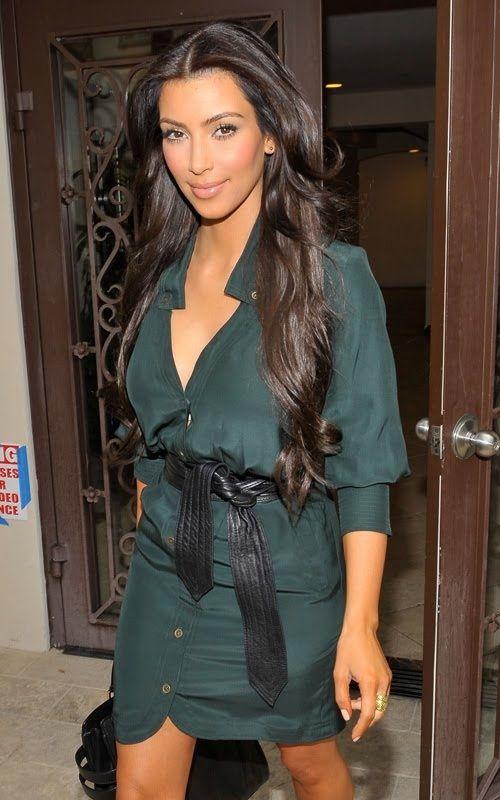 Kim Kardashian wearing Yves Saint Laurent Tribute Double Platform Pumps Chloe Shelby Leather Shopper. Kim Kardashian Out in Beverly Hills September 08 2009.  .