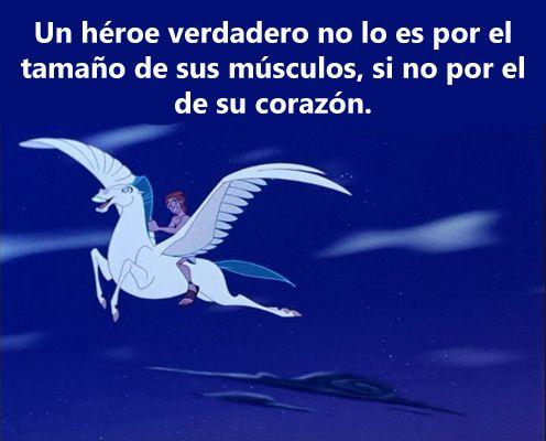 Un héroe verdadero no lo es por el tamaño de sus músculos, si no por el de su corazon.