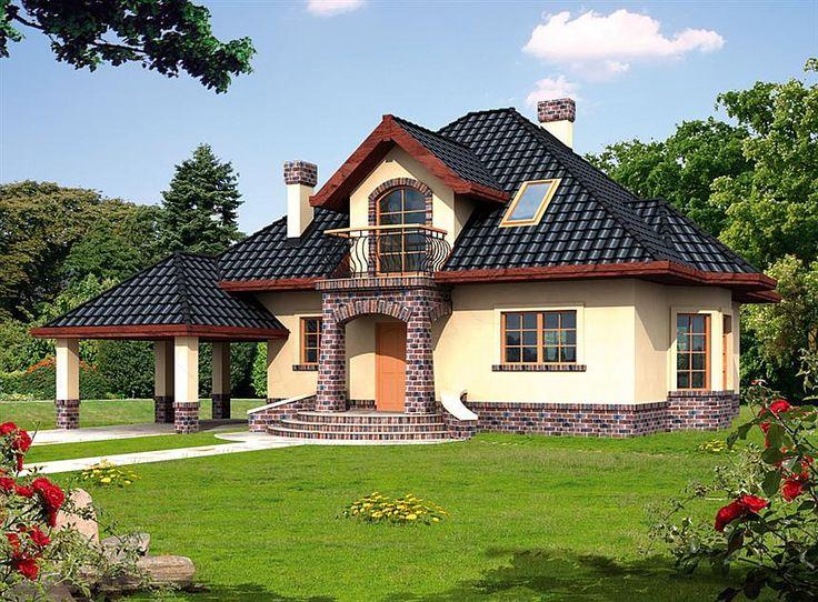 Casa de vis cu mansarda mai mica de 150 mp – proiect cu fotografii