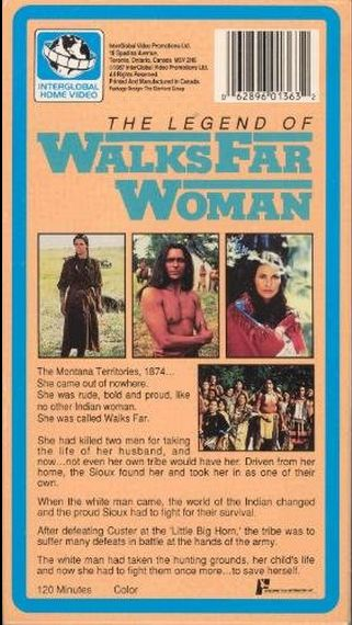 The Legend Of Walks Far Woman VHS tape back cover