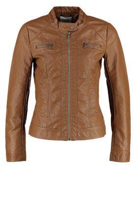 BANDIT - Faux leather jacket - cognac