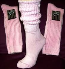 What girl didn't own a pair of slouch socks in the 80's?