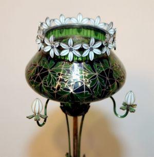 Gustav Gaudernack Plique-a-Jour Enamel Vase