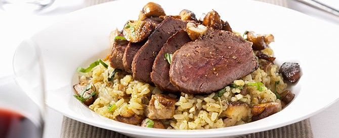 Ierse Biefstuk met paddenstoelenrisotto - Irishbeef