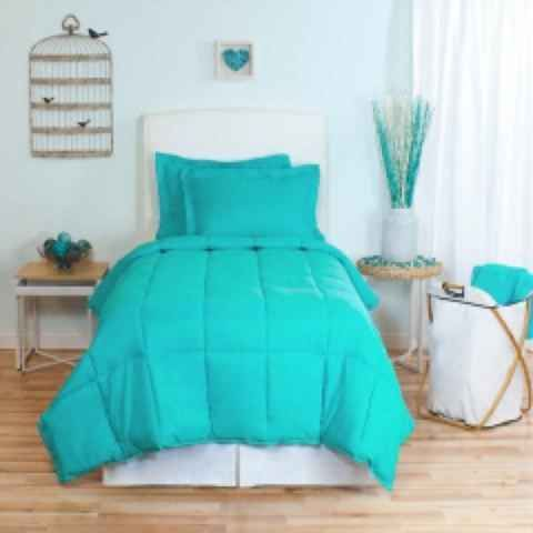 and this is the extra bed in allannas room twin solid comforter sham set turquoise
