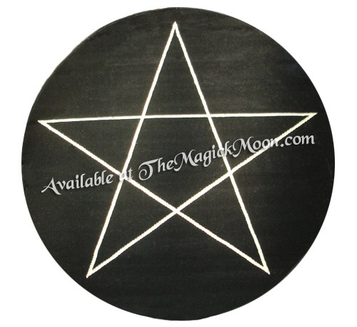 139 97 Pentacle Carpet Rug 6 Foot Is Black With Off White And Measures