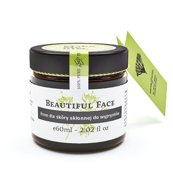 Beautiful Face. Zdrowa, promienna cera bez niedoskonałości. Krem z olejkiem z drzewa herbacianego. Bardzo skuteczny.