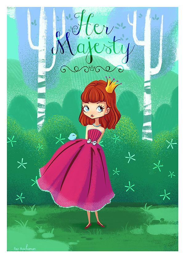 Her majesty by Paz HuichamaN, via Behance