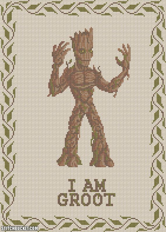 I Am Groot Cross Stitch Pattern