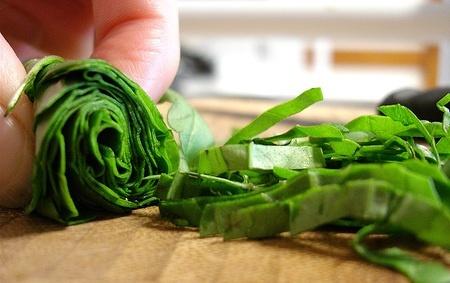 Corte de verduras 2 ch teau chiffonade chips y eminc for Cortes de verduras gastronomia pdf