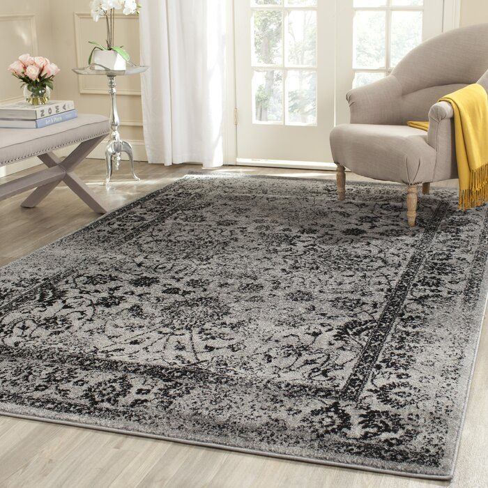 Howser Oriental Grey Black Area Rug In 2020 Black Area Rugs