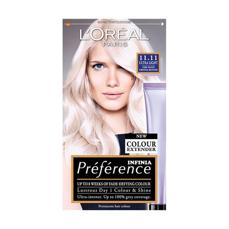 L Oreal Paris Preference Infinia 11 11 Ultra Light Blonde Hair Dye