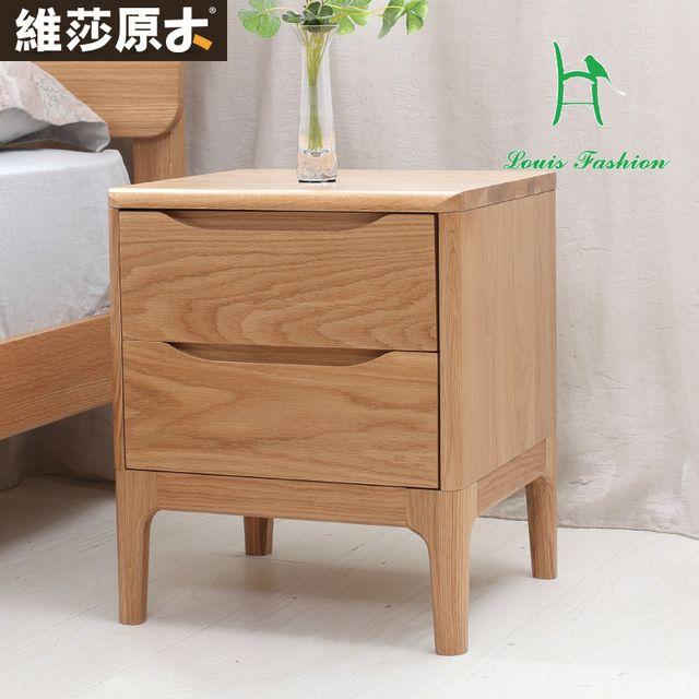 Japanse visa pure wit eikenhout nachtkastje slaapkamer meubels lockers twee ladekast nieuwe milieubescherming
