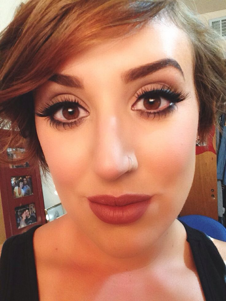 My Kylie Jenner inspired makeup using mac velvet teddy and ...