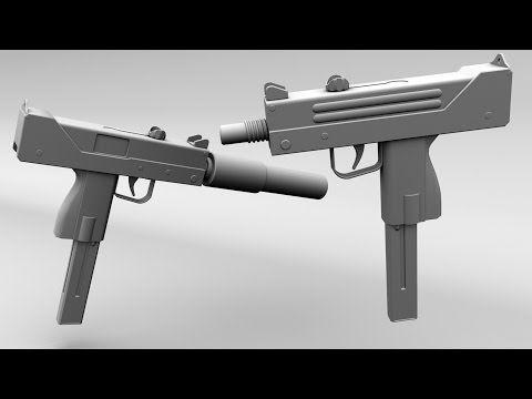 Maya 3D gun Tutorial - Mac 10 - YouTube