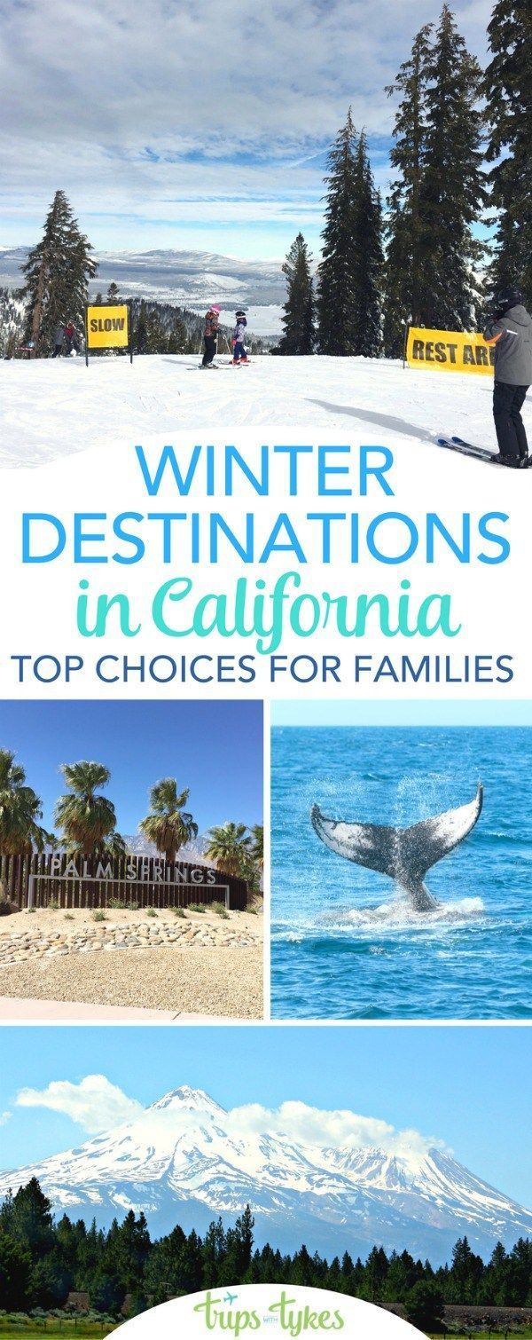 Top travel destinations in California during winter: Whether you are searching for skiing and snow or seeking a tropical warm weather getaway, check out these top family-friendly destinations in the state of California perfect for travelers with kids. #california #visitcalifornia #familytravel #TMOM #TravelDestinationsUsaWinter