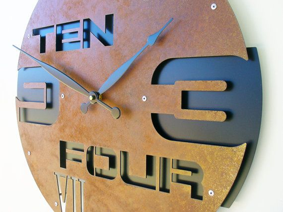 outnumbered ii large wall clock rustic wall clock unique wall clock modern metal art steampunk home decor industrial laser cut gift