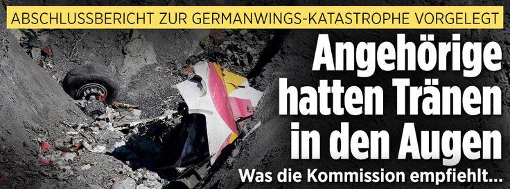Abschlussbericht zur Germanwings-Katastrophe | Angehörige hatten Tränen in den Augen. Was die Kommission empfiehlt http://www.bild.de/news/inland/flug-4u9525/germanwings-abschlussbericht-opfer-44909240.bild.html