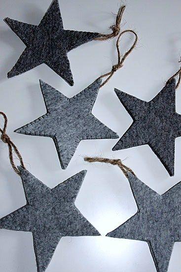 deze vilten sterren maak je eenvoudig zelf #diy #kerst