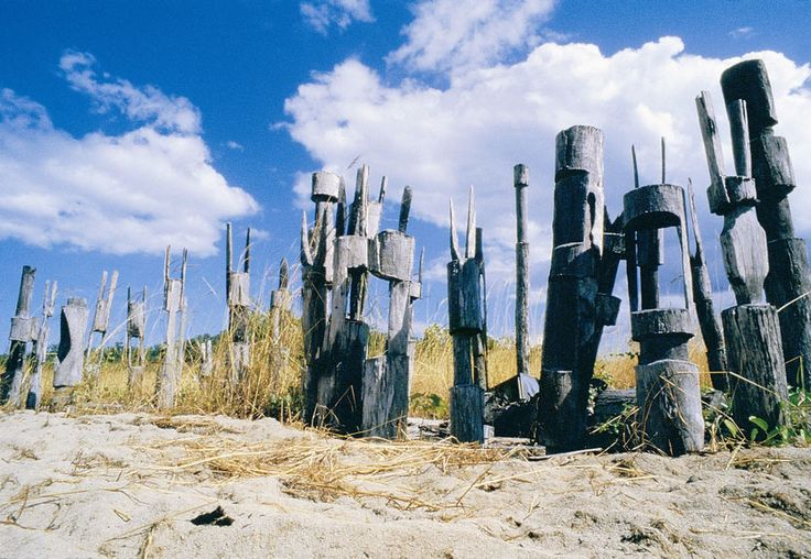 Traditional burial poles, Tiwi Islands, Northern Territory