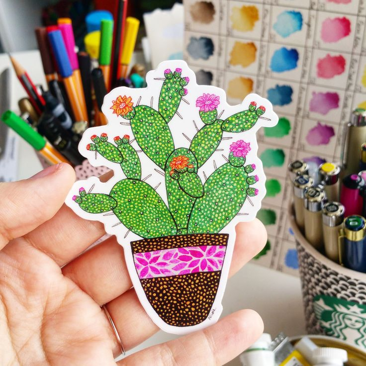 "Vinyl Sticker ""Cactus"" Waterproof Sticker Cactus Sticker Decal Laptop Sticker Diary Sticker Phone Sticker by NicoleStefanieDesign on Etsy https://www.etsy.com/listing/247902933/vinyl-sticker-cactus-waterproof-sticker"