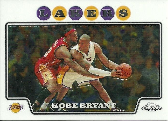 2008-09 TOPPS CHROME #24 KOBE BRYANT LeBRON JAMES LAKERS CAVALIERS FREE SHIPPING #LosAngelesLakers