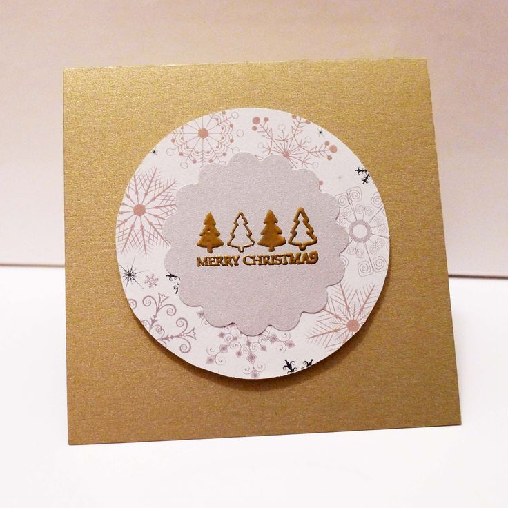 Festive gold and white Christmas card, featuring hand embossing. Only available at Poppy Penelope in Melbourne!