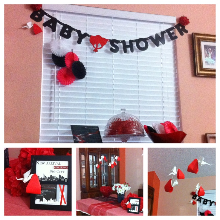 51 Best Red Pink White And Black Baby Shower Ideas Images On Pinterest Baby Girl