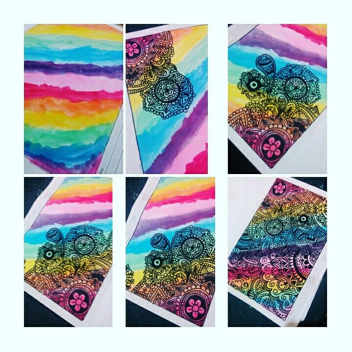 Acuarelas y zentangle❤