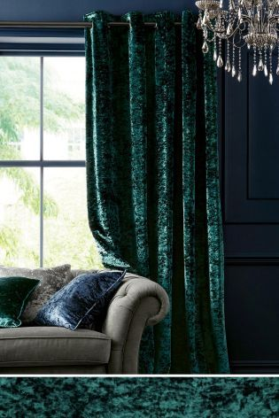 Buy Crushed Velvet Eyelet Curtains from the Next UK online shop approx £120 pair