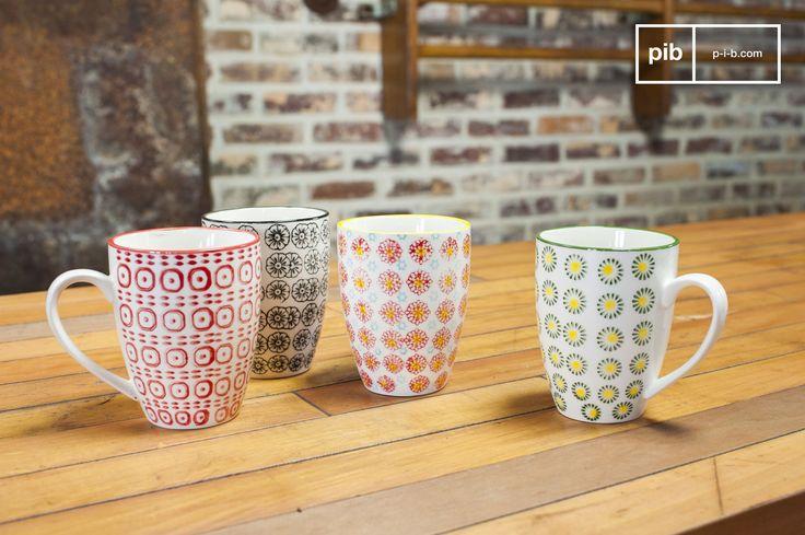 Opstartproblemen in de ochtend? Neem dan een kopje koffie of thee  uit deze kleurrijke kopjes!