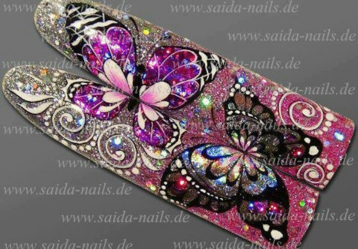 Butterfly by Saida nails