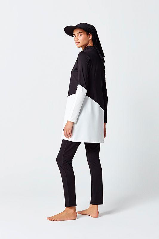 9c7f507dd72 Black & White Muslim Swimwear | Muslima style ideas | Black, white ...