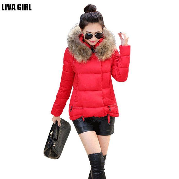 new winter women jacket A-line down coat fur collar thicken outwear women hooded wadded coat  #men #women #accessories #badminton #hiphop #neckwear #clothing #leggings #Hunting #crossfit