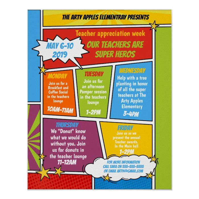 Super Hero Teacher Appreciation Week Itinerary Poster Zazzle Com In 2021 Superhero Teacher Appreciation Teacher Appreciation Week Themes Super Hero Teacher Appreciation Week