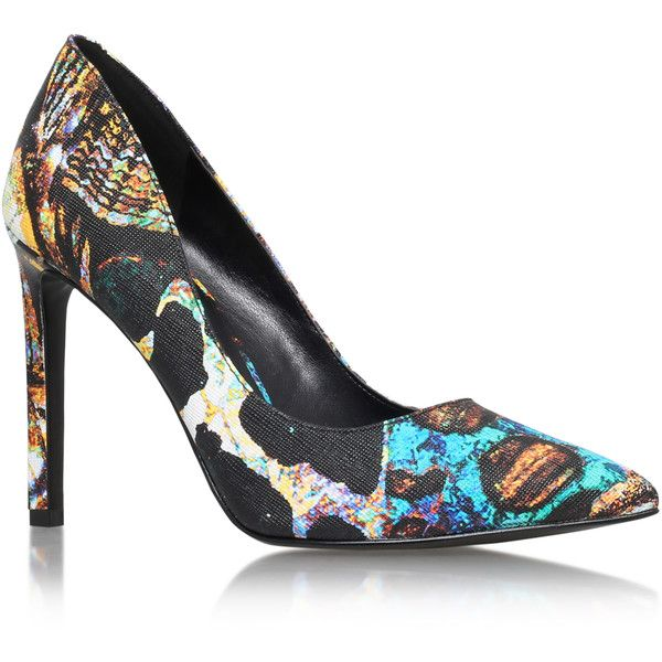 Tatiana3 Nine West Multi-Coloured (195 CAD) ❤ liked on Polyvore featuring shoes, pumps, colorful pumps, pointed toe high heel pumps, polish shoes, high heel shoes and high heel pumps