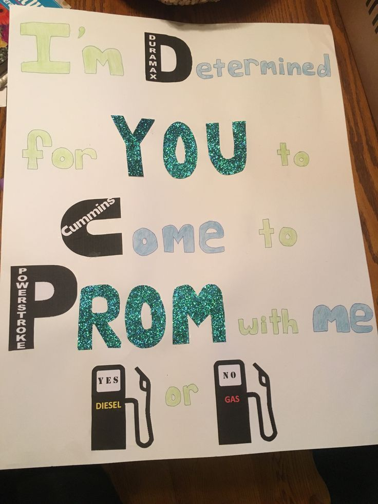 Prom proposal for a guy who loves trucks // diesel, prom, guy, truck