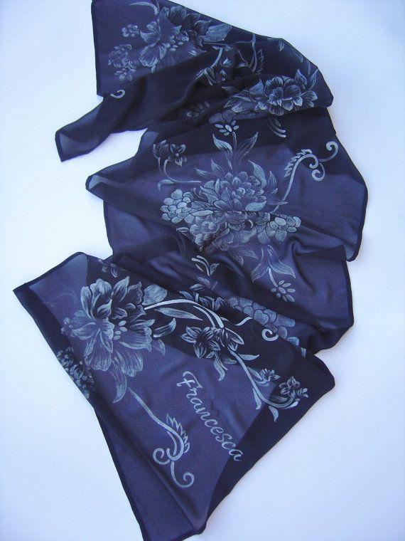 RISERVATO FRANCESCA: Sciarpa di chiffone in seta di AdeleDaniele
