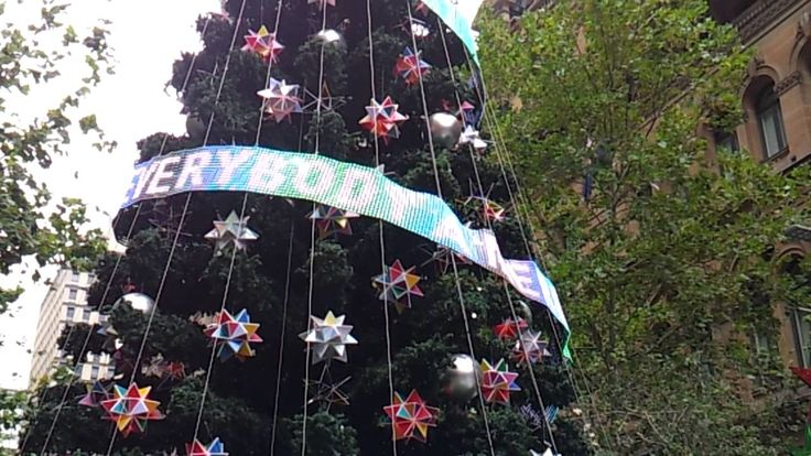 Last Christmas... I texted you my heart...   #interactive #christmastree #seasonedgreetings #sms #message #Christmas #Australia #Summer #MartinPlace