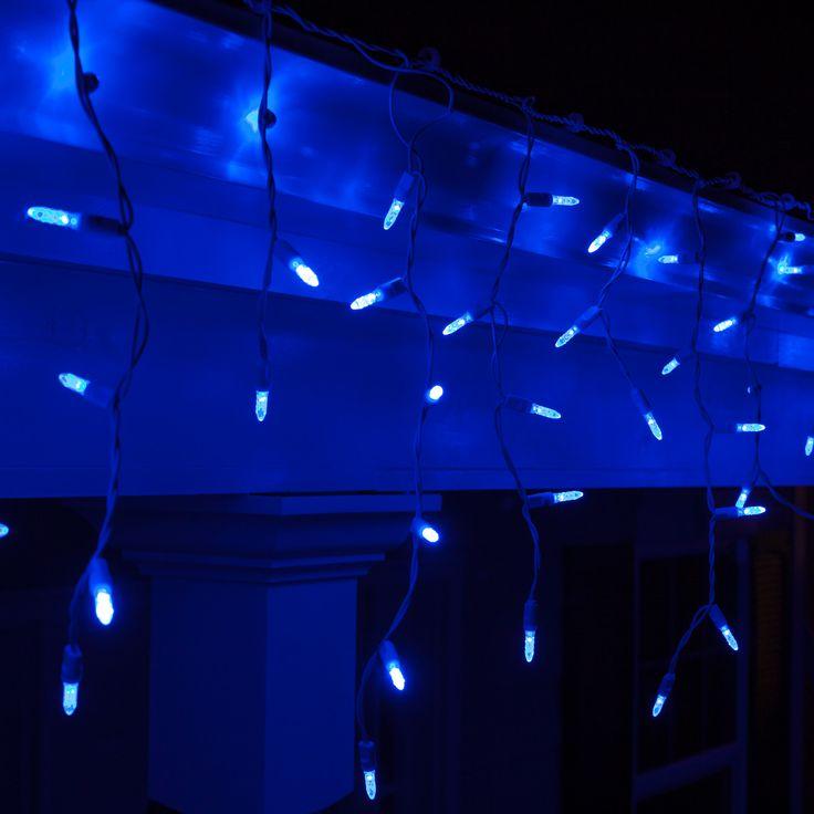 70 M5 Blue LED Icicle Lights | Icicle Lights, Led Christmas Lights And  Christmas Lights