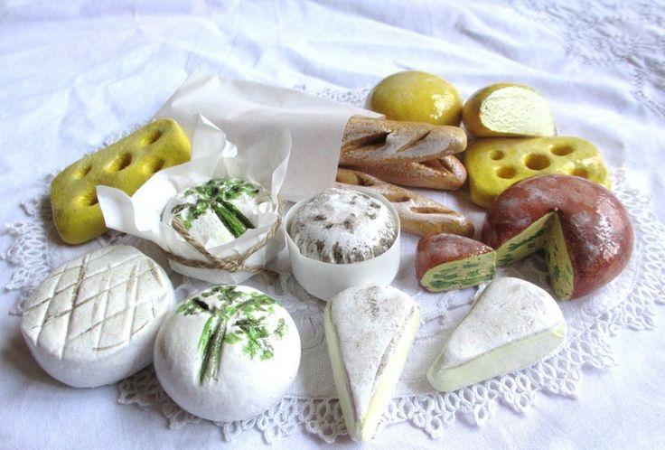 Kaesesortiment aus Salzteig oder Fimo